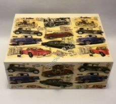 Cars Through The Ages Keepsake/Memory Box